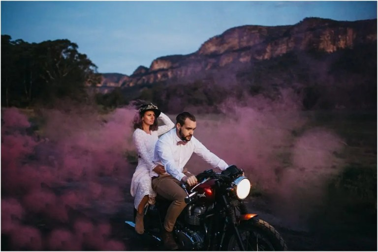 motorcycle elopement