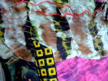 Detail of conductive thread embroidery