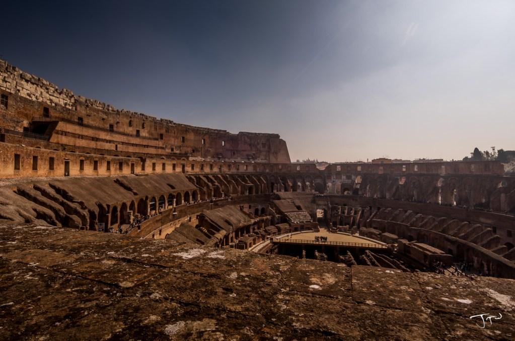Across the Colosseum