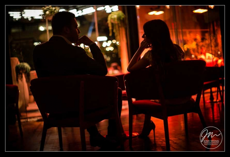 Inside the Standard Hotel in the Meat Packing District in New York City. Engagement pictures by NYC engagement photographer Josh Wong Photography