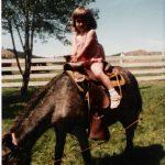 Little Josie on a Miniature Horse