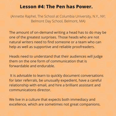 Lesson #4- The pen has power