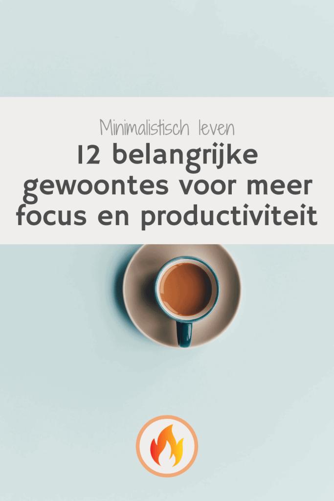 gewoontes voor meer focus en productiviteit pinterest