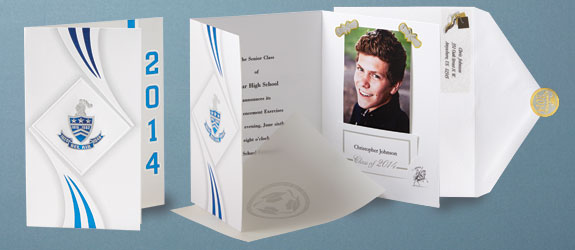 How to assemble graduation invitations newsinvitation announcements high school graduation filmwisefo