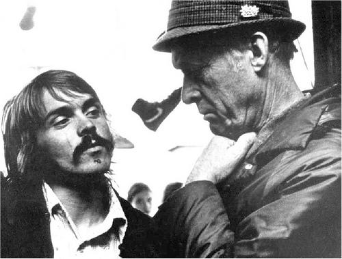 Steve Prefontaine con su entrenador Bill Bowerman.