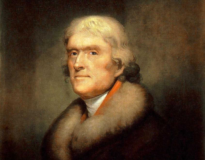 Thomas Jefferson, por Rembrandt Peale.