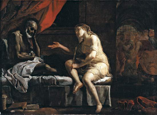 Boecio y la filosofía, por Mattia Preti, siglo XVII.