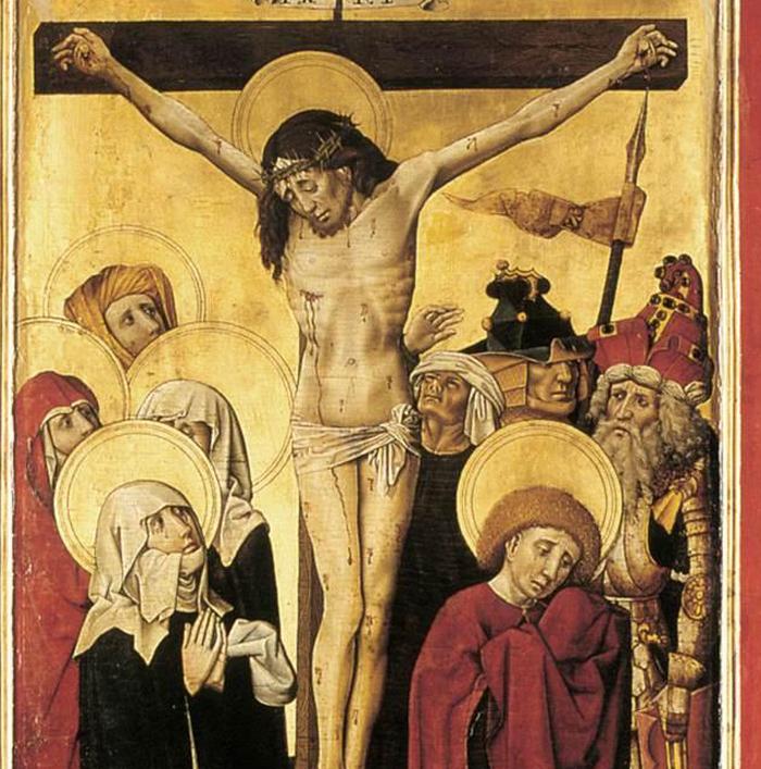 Crucifixión anónima del siglo XV. (IImagen: DP)