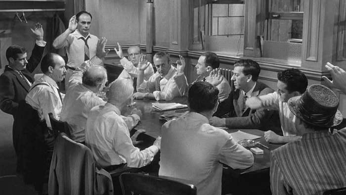 Doce hombres sin piedad, 1957. Imagen: Metro-Goldwyn-Mayer / Orion-Nova Productions.