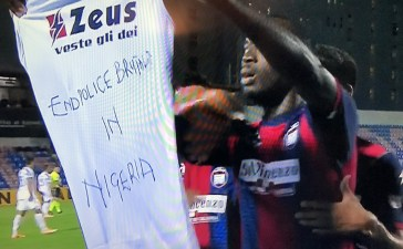 Another Nigerian striker Simeon Nwankwo lends his voice against police Brutality in Nigeria after scoring against Juventus