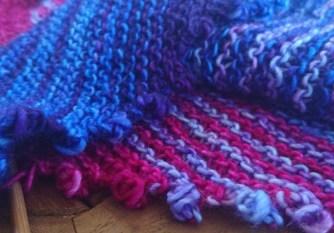 Jo Torr Go Faster Stripes garter shawl