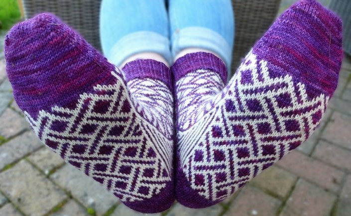 Jo Torr Crossrail colourwork socks
