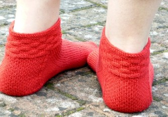 Jo Torr Fairlop short toe-up socks