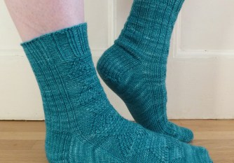 Jo Torr cabled toe-up sock Farringdon