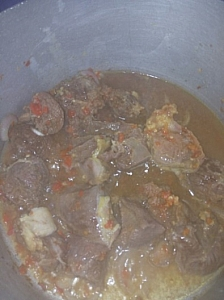 Cooking of beef