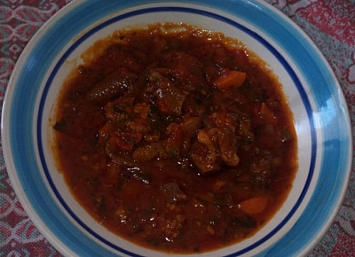 Bolognese sauce used for eating spaghetti