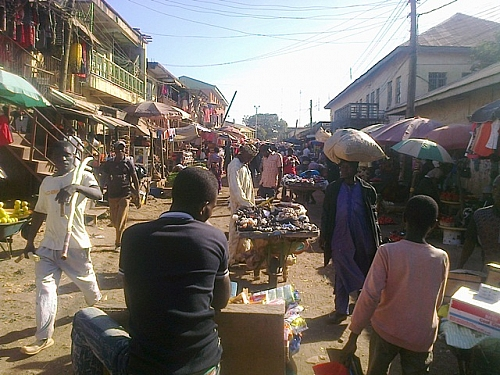 Another street in Terminus Market, Jos Plateau state