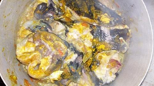Seasoned catfish for making pepper soup