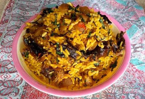 Delicious palm oil jollof rice recipe (native or concoction rice)