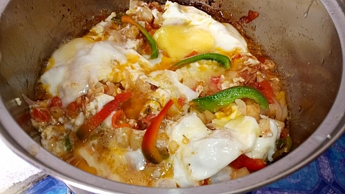Eggs and potatoes recipe is ready. Enjoy!