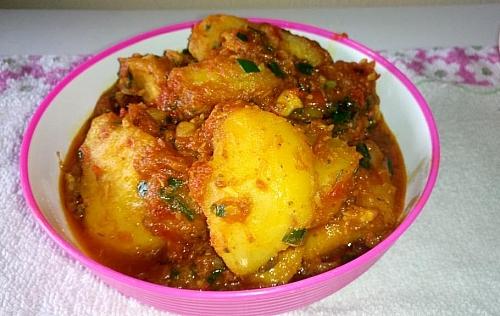 Delicious sweet potato porridge served in a plate