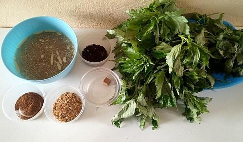 Ewedu soup ingredients