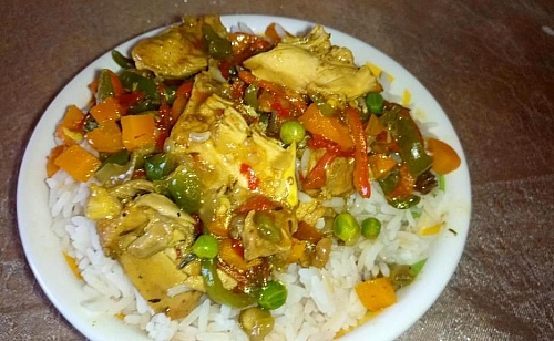 I love to serve my chicken sauce over boiled rice, enjoy it as you want