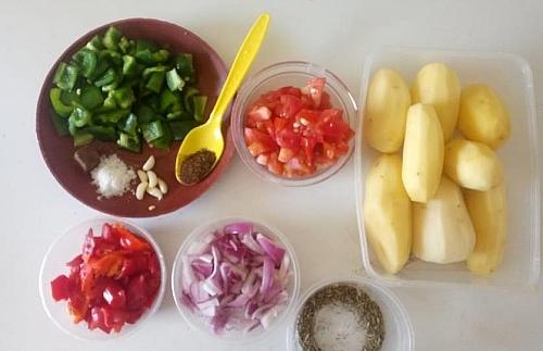 Ingredients for stir fry potatoes