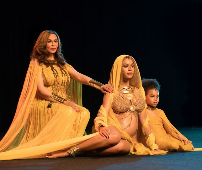 Beyonce, Tina Lawson, Blue Ivy Grammy Performance 2017. Black motherhood.