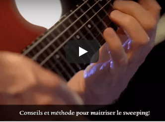 technique du sweeping à la guitare
