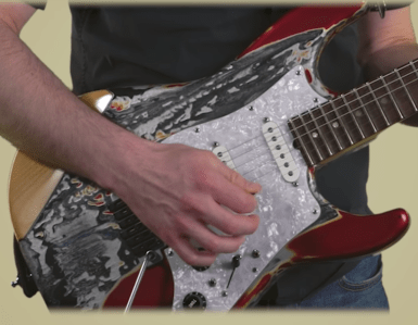 cours de guitare - le swipping