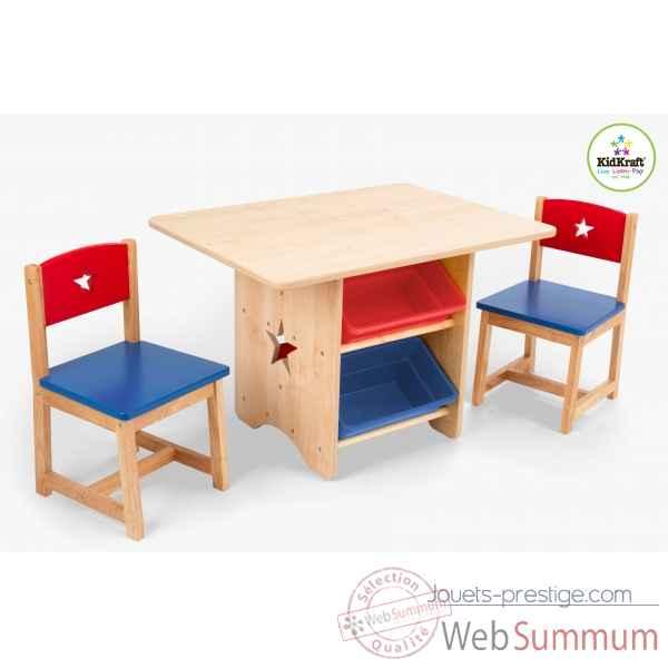 Jouets Ensemble Table Et Chaises Avec Motif Toile Et Bacs