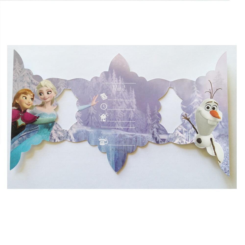pack de 6 cartes d invitation anniversaire enfant la reine des neiges