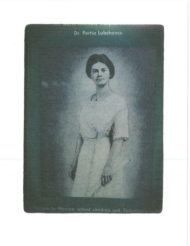 photo scan of a young Dr. Portia McKnight Lubchenco