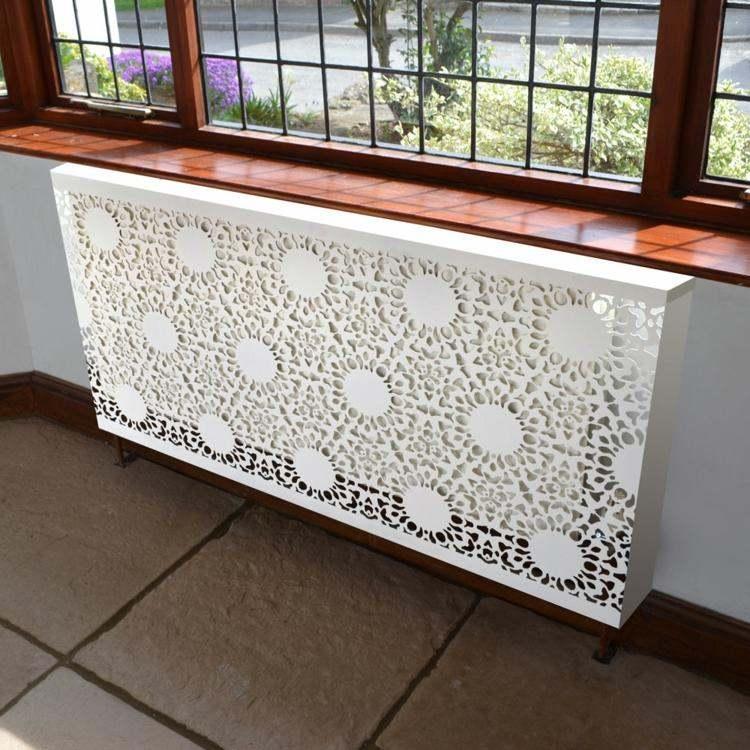 cache radiateur design blanc