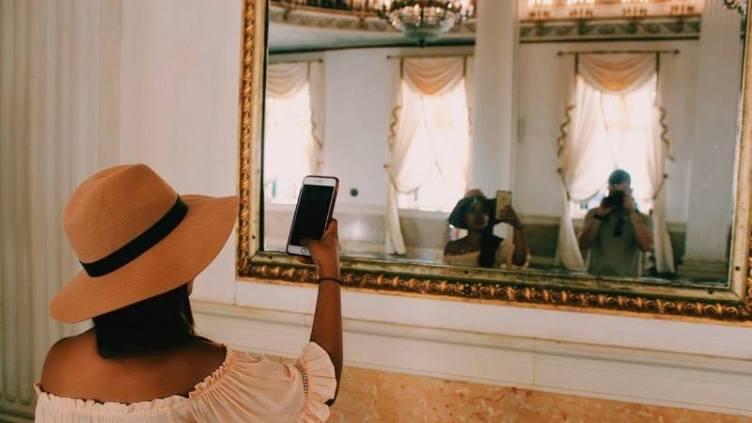 miroir ancien à moulures