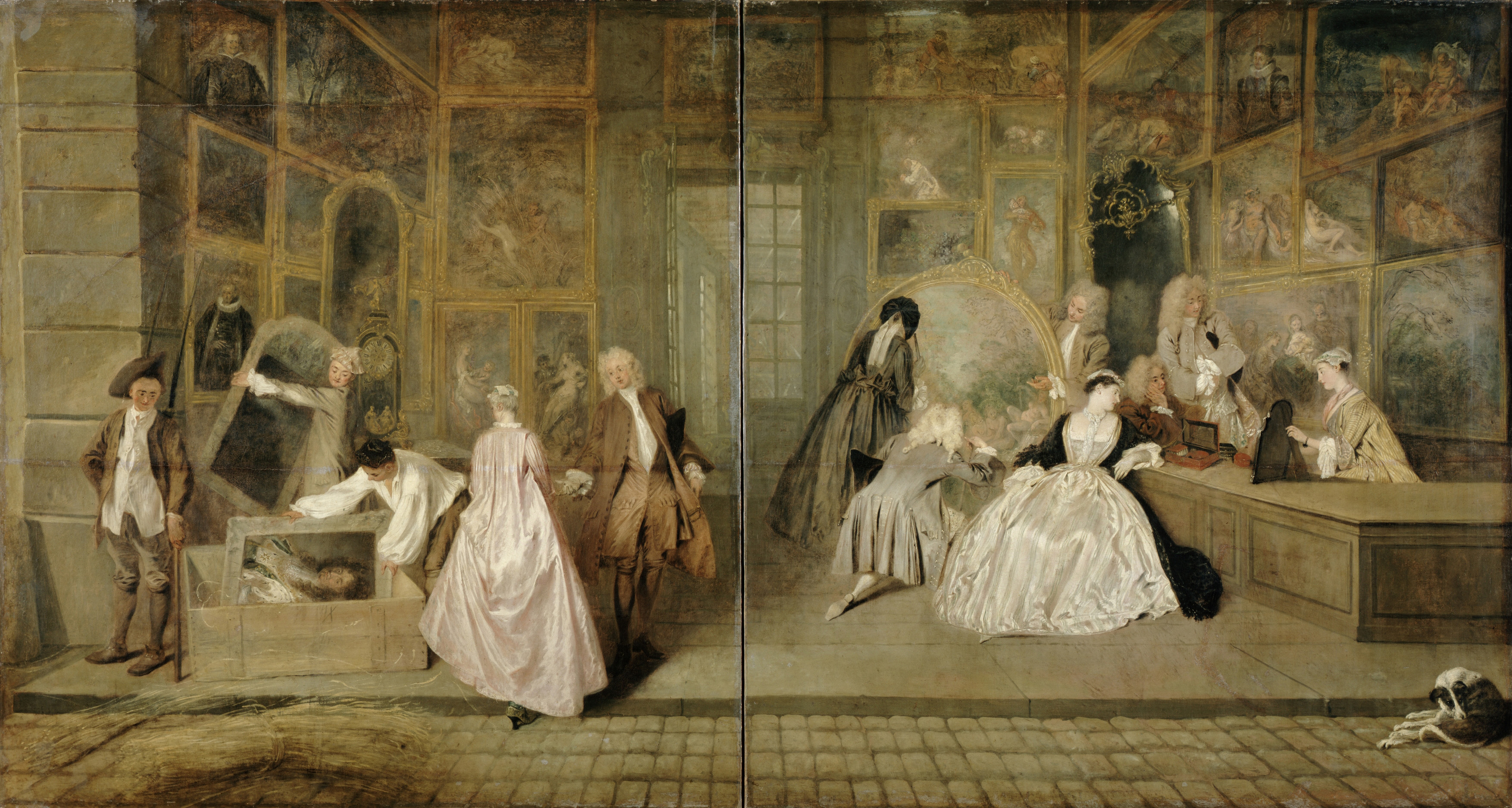 Virtual Explorations Of An 18th Century Art Market Space