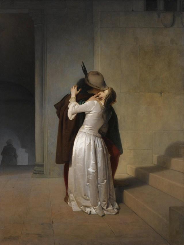 Francesco Hayez, Il Bacio (1861; olio su tela, 125 x 94,5 cm; Collezione privata)