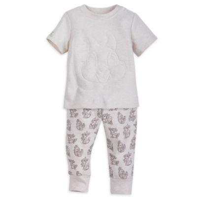 Ensemble pantalon et haut à manche courtes Pan-Pan pour bébé (6-9 mois)