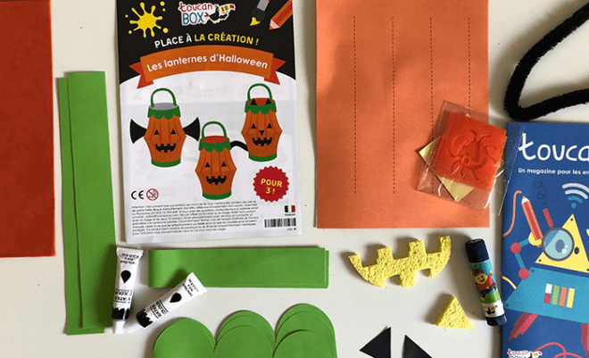 halloween toucan box enfants