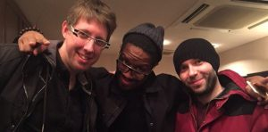 L'équipe de Canon Buster : Thomas Romain, LeSean Thomas et Yann Le Gall © Twitter de Thomas Romain
