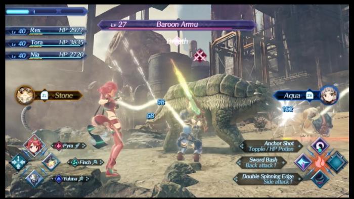 Scène de combat - Xenoblade Chronicles 2 - Nintendo ©