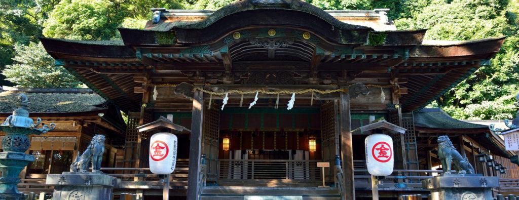 Komainu du Kotohira-gû à Kagawa dans le Shikoku
