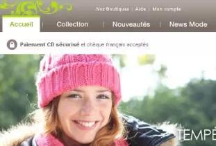haut de la page d'accueil de promod.fr