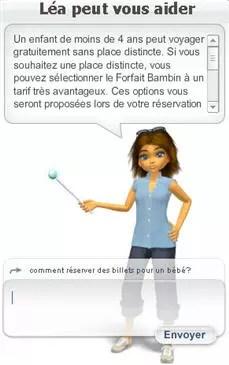 léa, l'agent conversationnel de voyages-sncf.com