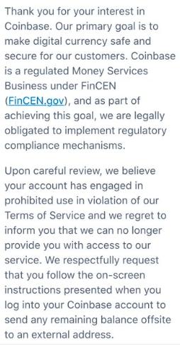Coinbase Wikileaks Ban