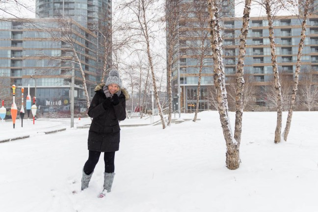 Tracey in Toronto snow