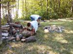 MNANgler, Jr getting a log