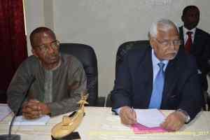 visite du Recteur de l'Université de la Gambie
