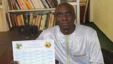 premier calendrier avec des prénoms sénégalais